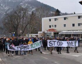 Građani Višegrada na protestu protiv izgradnje mHE