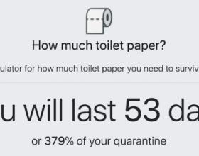 Aplikacija za mjerenje potrošnje toalet-papira