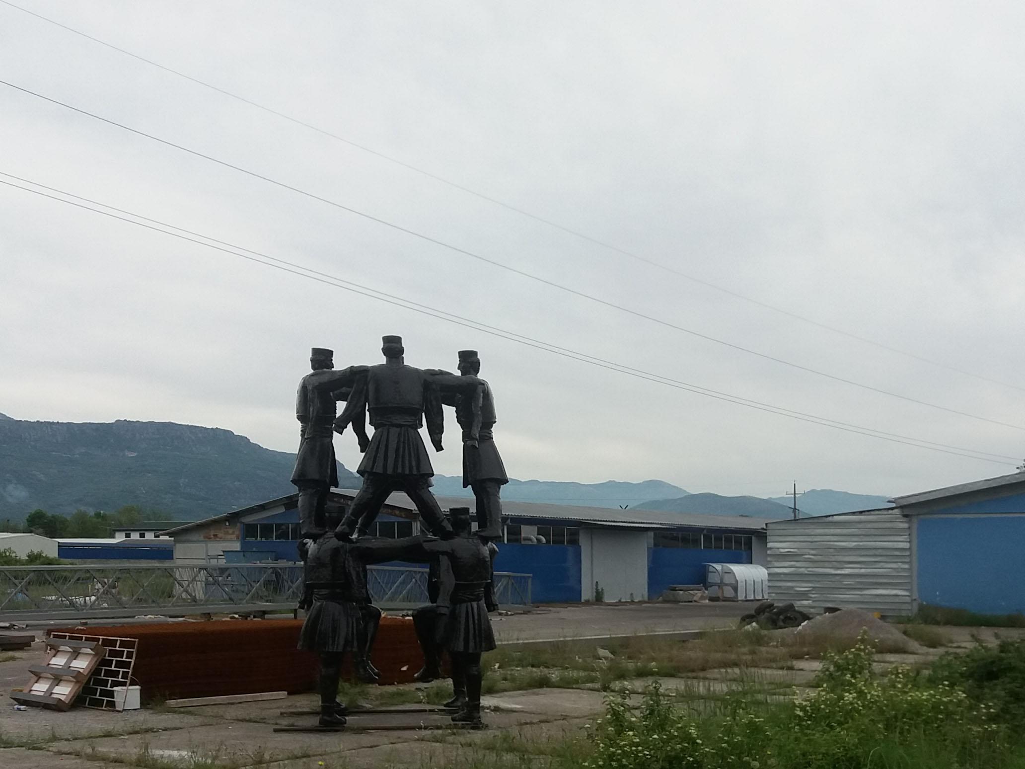 Skulptura Crnogorsko Oro Otkrivena Na Privremenoj Lokaciji Pcnen