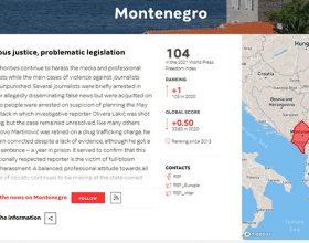 Reporteri bez granica: Crna Gora na 104 mjestu